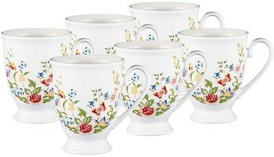 AYNSLEY COTTAGE GARDEN 6 FOOTED MUGS - GIFT BOXED SET