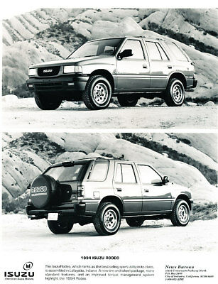 1994 Isuzu Rodeo Truck Press Photo Print and Release