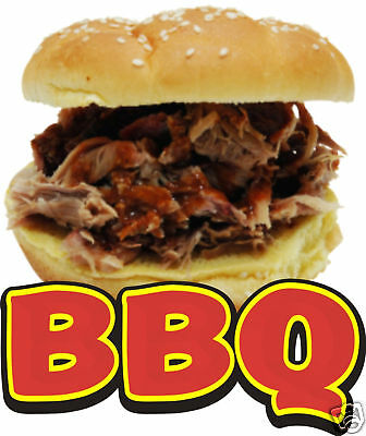 "BBQ Barbeque Concession Food Decal 12"" Restaurant Menu"