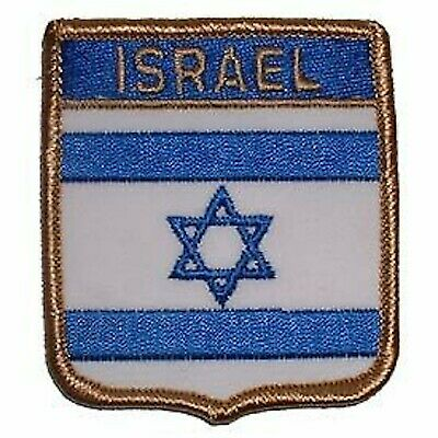 Israel Flag Shield Embroidered Country Patch