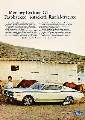 1968 Mercury Cyclone GT Fast Classic Advertisement Ad