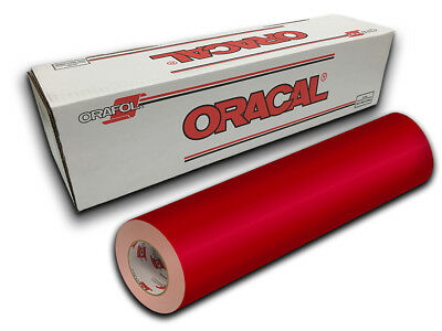 """24"""" X 10yd - Red Oracal 651 Intermediate Graphic & Sign Cutting Vinyl"""