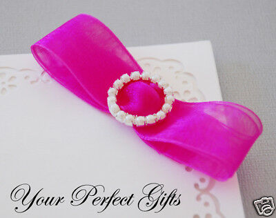 New ROUND CIRCLE Wedding Invitation Pearl Buckle Slider