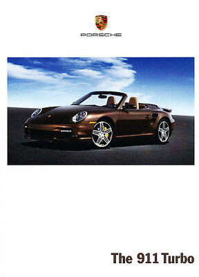 2008 Porsche 911 Turbo Deluxe 120-page Original Sales Brochure Book