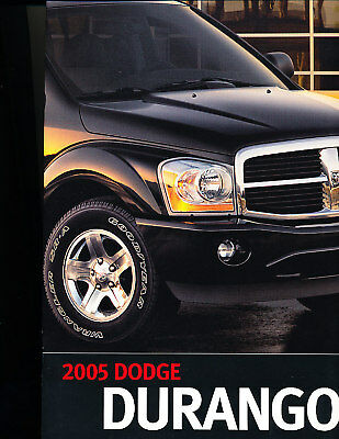 2005 Dodge Durango Truck 24-page Original Deluxe Sales Brochure Book