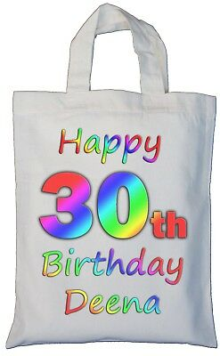 30TH BIRTHDAY BAG Gift Large Age Girls Women Pink 30 Luxury Present