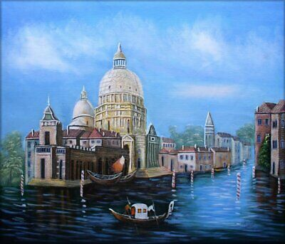 Stretched Quality Hand Painted Oil Painting Venice Waterway 20x24in
