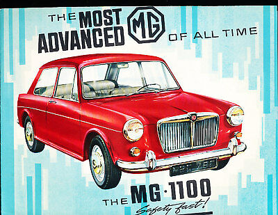 1962 1963  MG 1100 Deluxe Sales Brochure Book