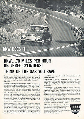 1960 DKW F=6 Coupe Classic Advertisement Ad