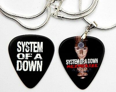 System of a Down Silver Guitar Pick Necklace + Pick