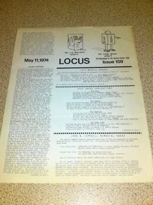 RARE VINTAGE LOCUS (SCI-FI) NEWSLETTER - May 1974 #159