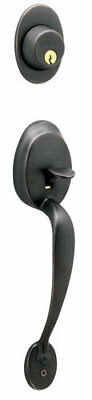 SCHLAGE Outside Door Handleset F358 PLY613 ORB Plymouth Oil Rubbed Bronze - New