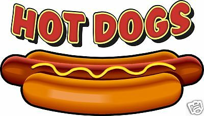 """Hot Dogs Concession Large Decal 28"""" Food Restaurant"""