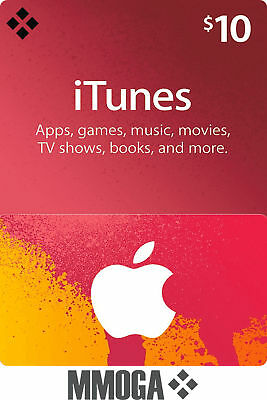 iTunes 10 $ US Dollar Key Card Geschenkkarte - USD