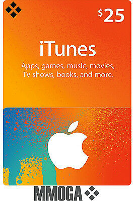 iTunes 25 $ US Dollar Key Card Geschenkkarte - USD