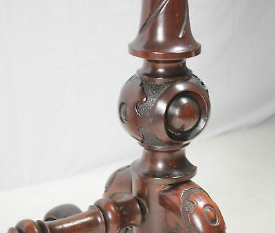 antique victorian mahogany card table ornate carving