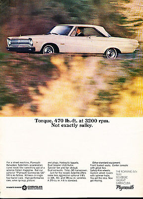1965 Plymouth Satellite P29 Classic Advertisement Ad