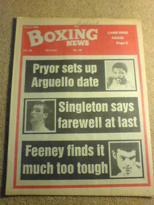 BOXING NEWS - 9 July 1982