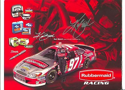 Kurt Busch NASCAR Driver Signed Autograph Photo