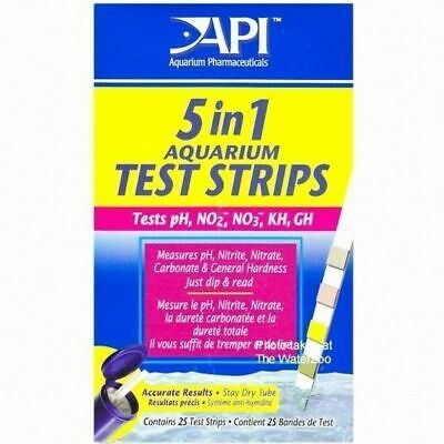 Api 5 In 1 Aquarium Tropical Fish Tank Test Dip Strips