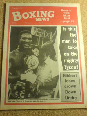 BOXING NEWS - 21 Aug 1987 - HOLYFIELD