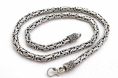 "Sale!! Sterling Silver 5 mm Bali Chain/Byzantine Necklaces 16""(41 cm)-22""(56 cm)"