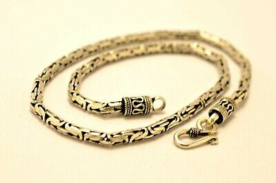 """925 Sterling Silver 4 mm Bali Chain /Byzantine Necklaces. 16""""-20"""" 34-53g"""