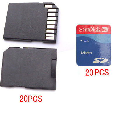 20PCS TF Micro SD TO SD Cards adapters + 20PCS Tags