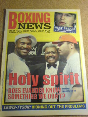 BOXING NEWS - 14 Dec 2001 - HOLYFIELD