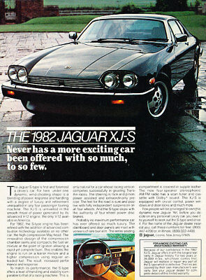 1982 Jaguar XJS XJ-S Vintage Advertisement Ad P37