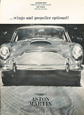 1961 Aston Martin DB4 wing Classic Advertisement Ad P40