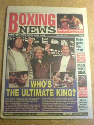 BOXING NEWS - 12 March 1999 - LEWIS HOLYFIELD