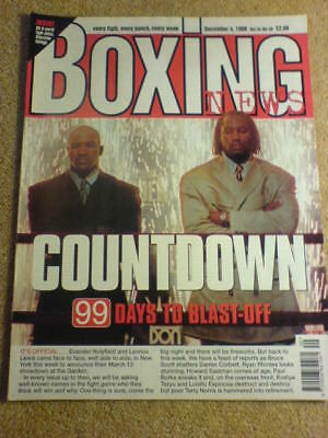BOXING NEWS - 4 Dec 1998 - HOLYFIELD LEWIS