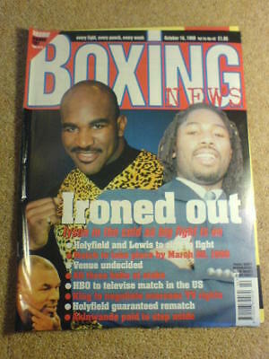 BOXING NEWS - 16 Oct 1998 - HOLYFIELD LEWIS