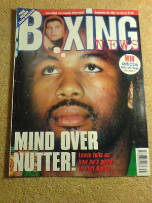 BOXING NEWS - 26 Sept 1997 - LEWIS