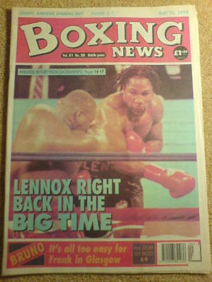 BOXING NEWS - 19 May 1995 - LEWIS