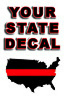 """THIN RED LINE STATE  DECAL  3"""" to  4"""""""