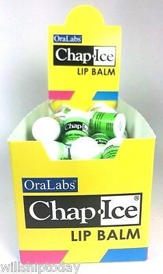 50 Mini Chap Ice Lip Balm Kiwi Lime New And Sealed Box by Ora Labs