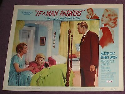 1962 IF a MAN ANSWERS LOBBY CARD 1 Sandra DEE Bob DARIN