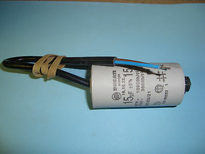 15uF Motor Run Capacitor 450V, Twin Cable