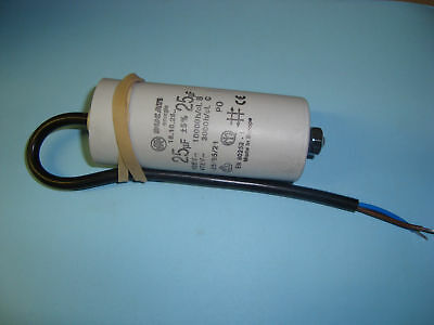 25uF Motor Run Capacitor 450V, Twin Cable