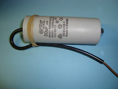 50uF Motor Run Capacitor 450V, Twin Cable