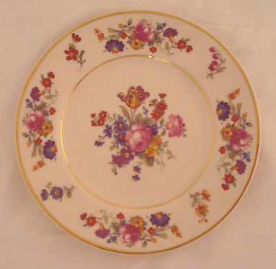 Syracuse China USA Sharon Pink Floral Bread Plate