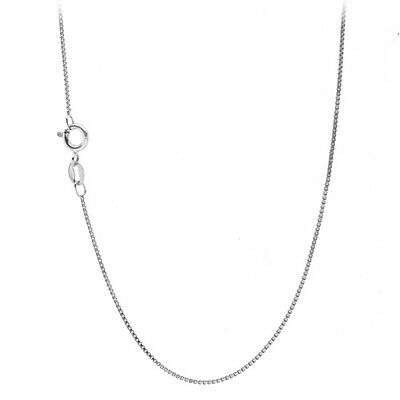 925 Sterling Silver 1mm Box Chain Necklace for Pendants