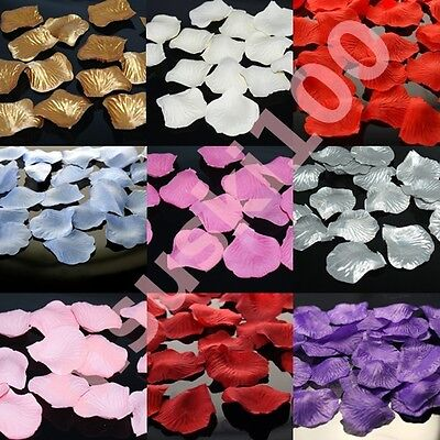 Rose Petals Silk Confetti Wedding Top Table Decoration Thick Material 12 Colours