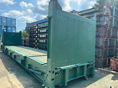 40' Flat Rack Container...collapsible end walls (flush)
