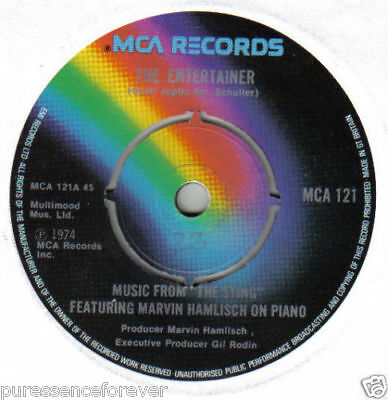 """MARVIN HAMLISCH - The Entertainer (From """"The Sting"""") (UK 2 Tk 1974 7"""" Single)"""