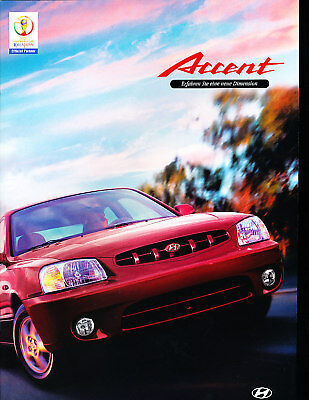 1999 2000 Hyundai Accent Sales Brochure German
