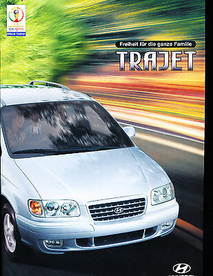 1999 2000 Hyundai Trajet Van Sales Brochure German