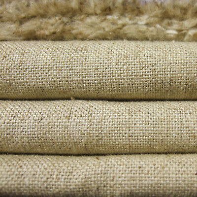 """Heavy Linen Cotton Upholstery Antique Fabric Vintage Natural Oatmeal 54""""width"""